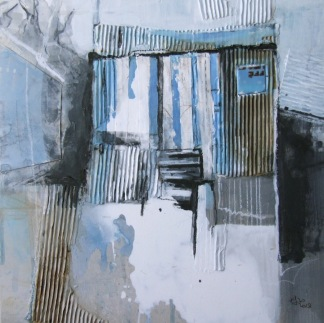 Beached Hut no. 55 Abersoch 40 x40cm